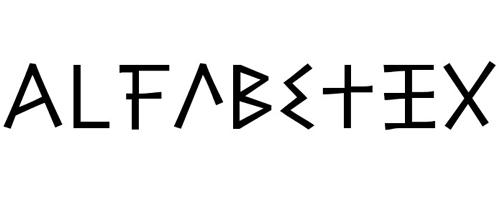 Alphabetizing Funky Font