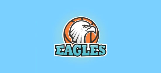 eagles basketball logo design