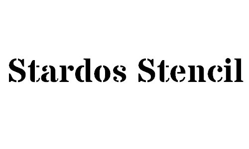 Stardos Stencil font