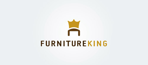 king furniture logo design