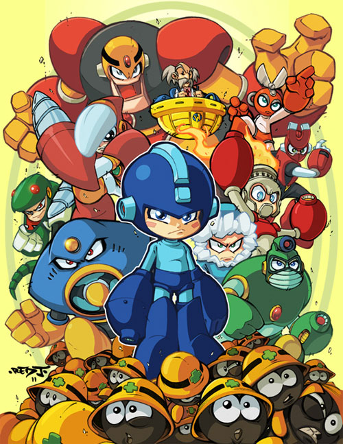 Megaman tribute piece