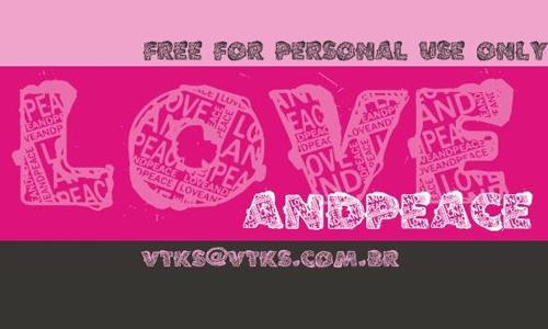 VTKS LOVEANDPEACE font