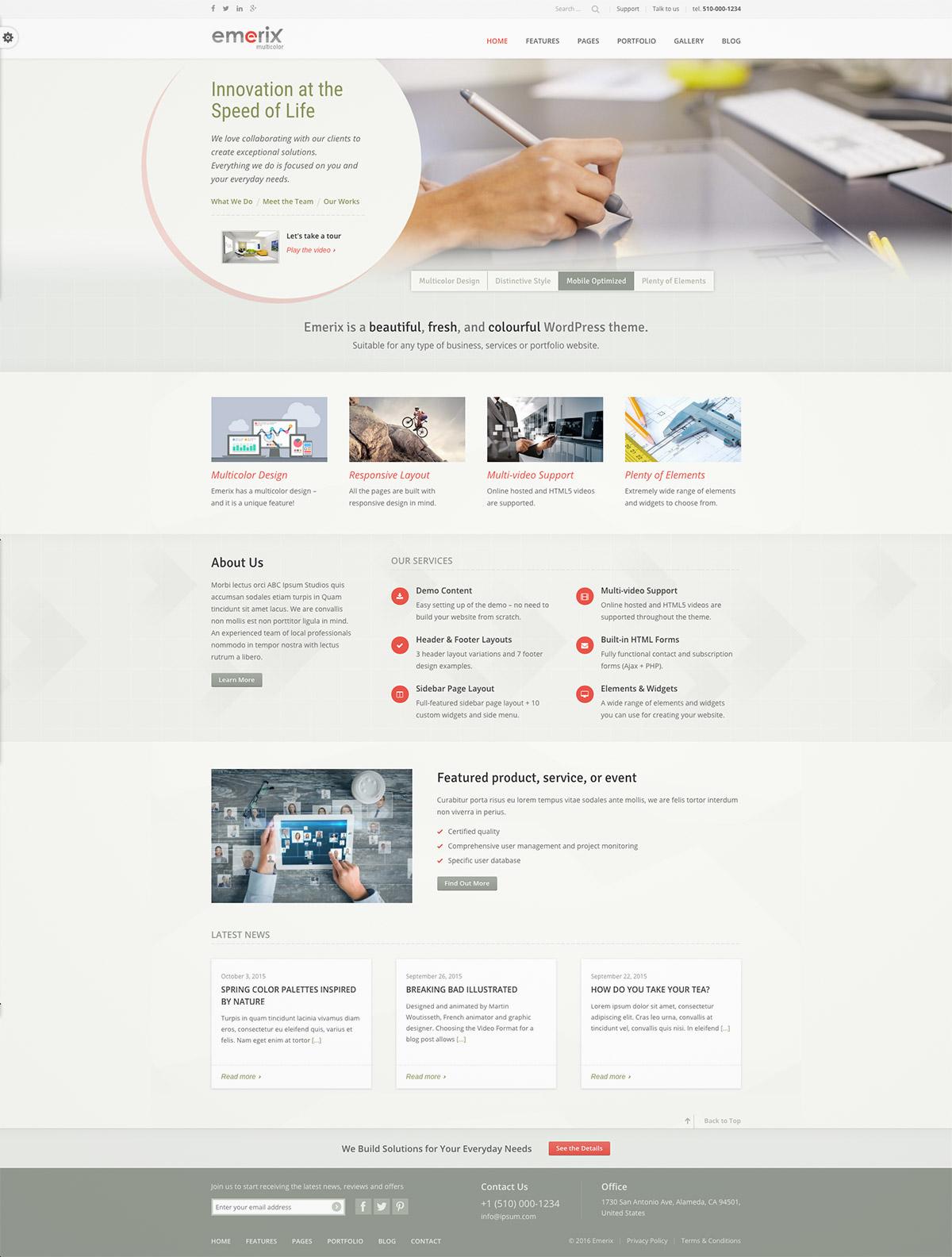responsive business theme