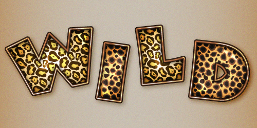 Quick Tip: Create an Animal Print Text Effect with Adobe Illustrator Pattern Swatches