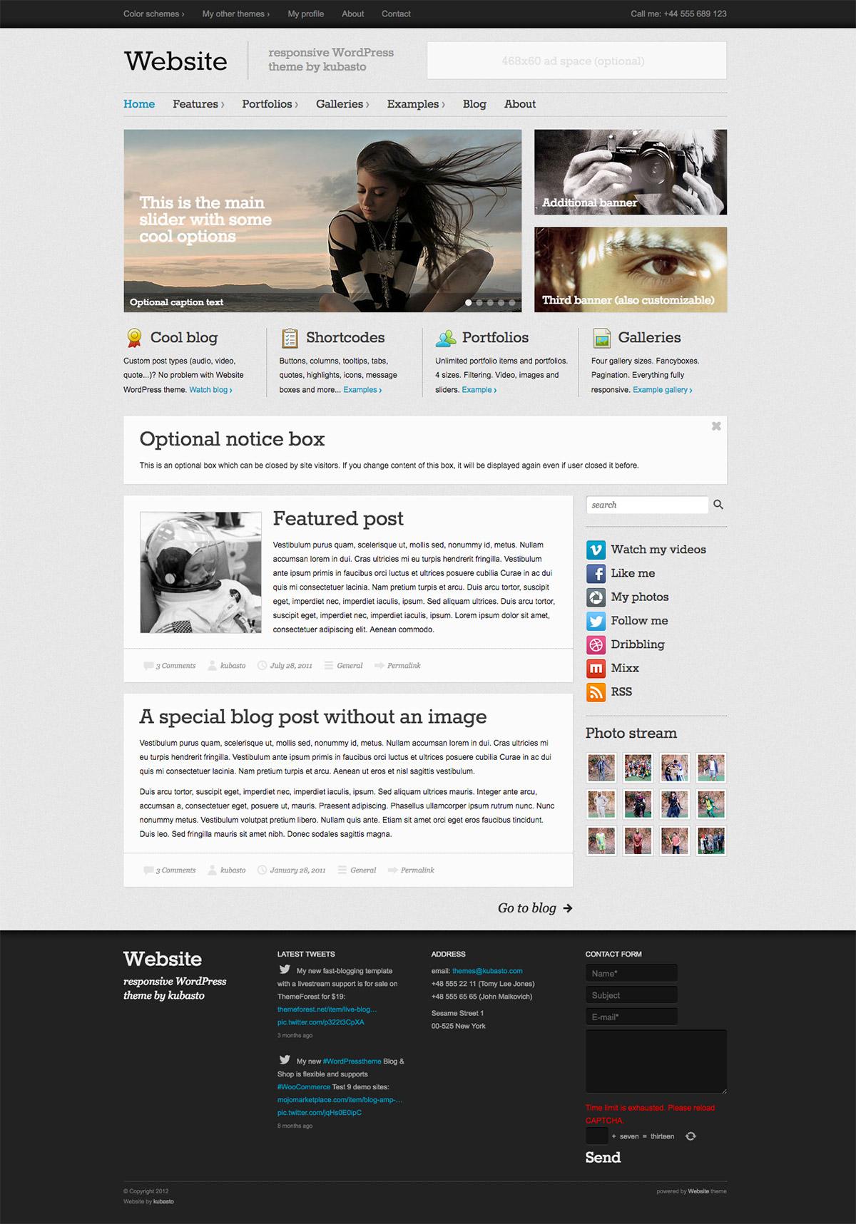 new wordpress theme
