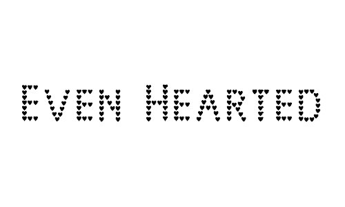Even Hearted font