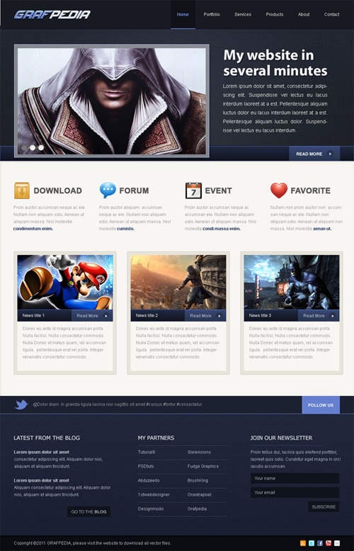 How To Design A Video Game Web Layout