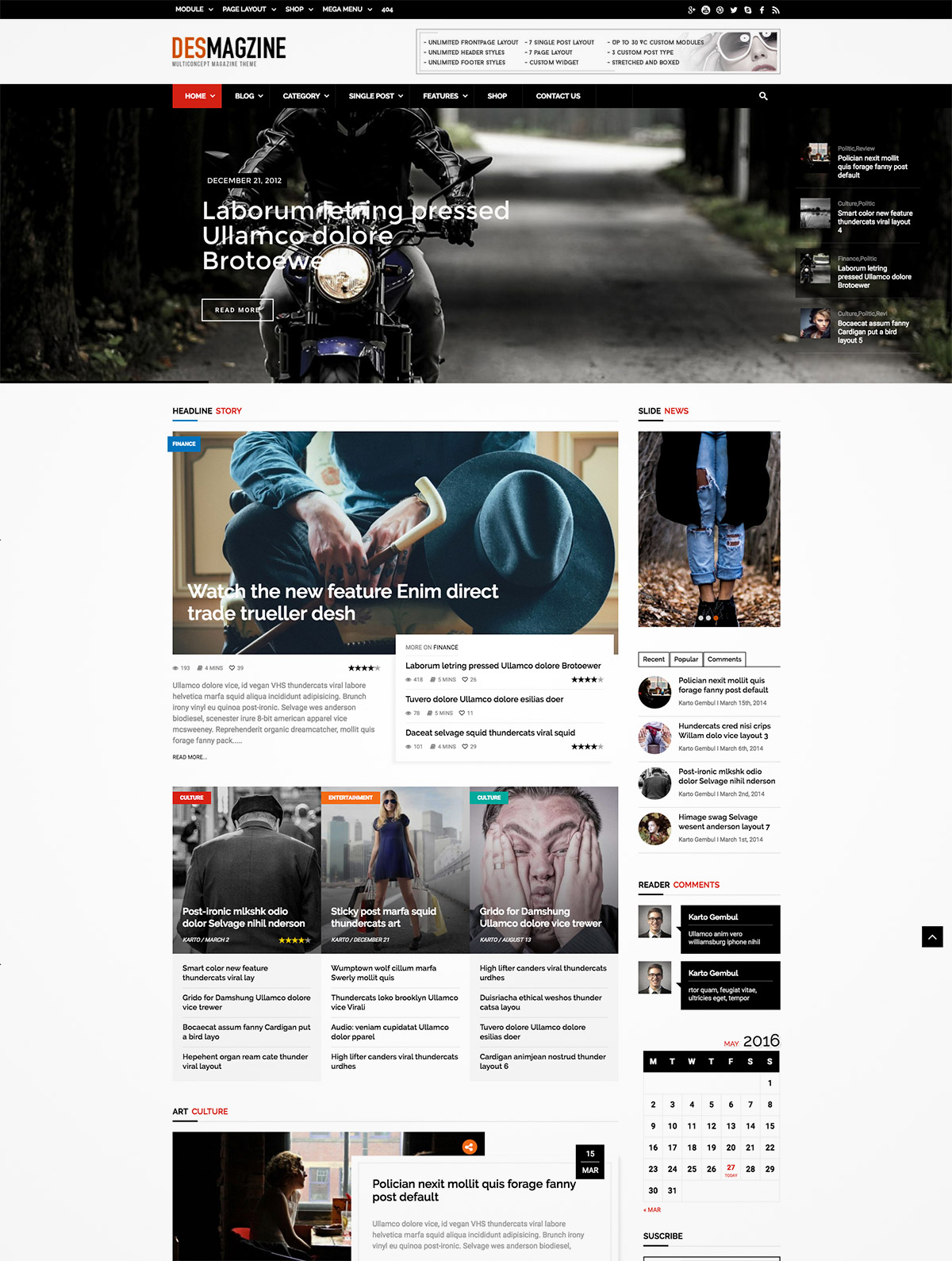 wordpress multiconcept magazine