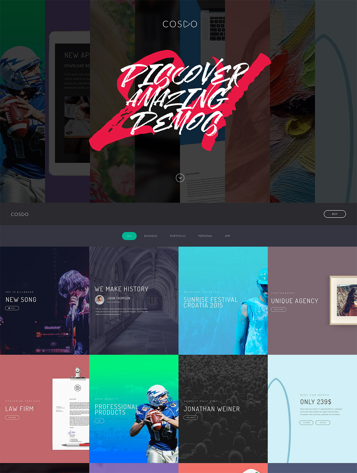 creative responsive theme