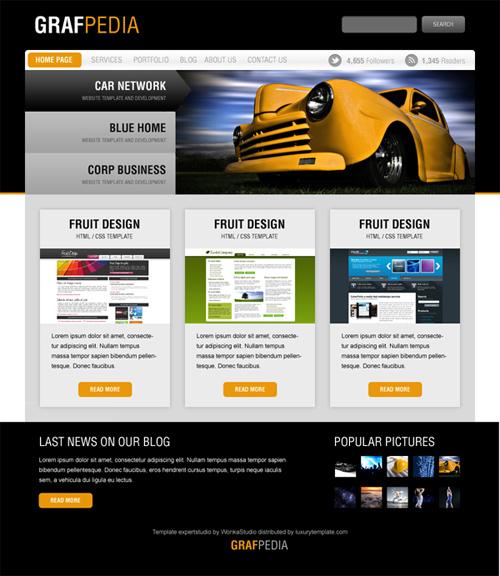 Design A Black & Yellow Portfolio With Photoshop
