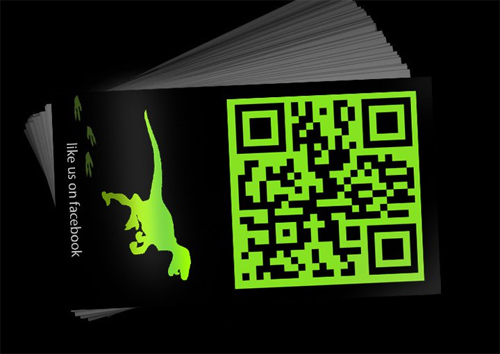 34 examples of business card designs with qr code naldz graphics designosaur business card back reheart Images