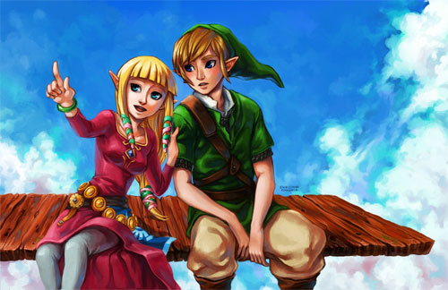 Zelda Skyward Sword Cloud Gazing