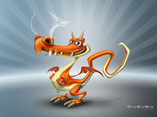 Funny Dragon Wallpaper
