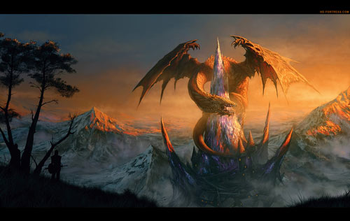 Scary But Nice Dragon Wallpaper