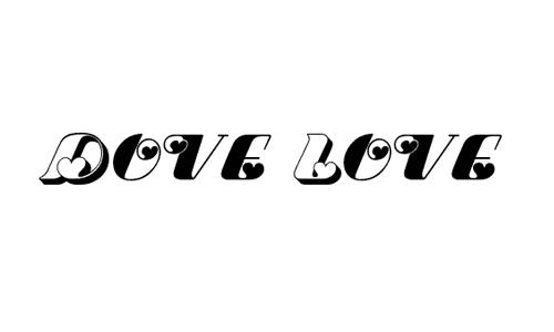 Dove Love font