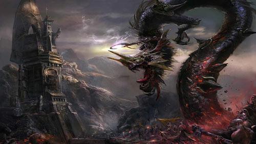 Courageous Dragon Wallpaper