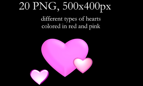PNG: Hearts Pack