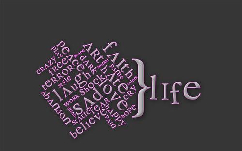 Typography Life Pink