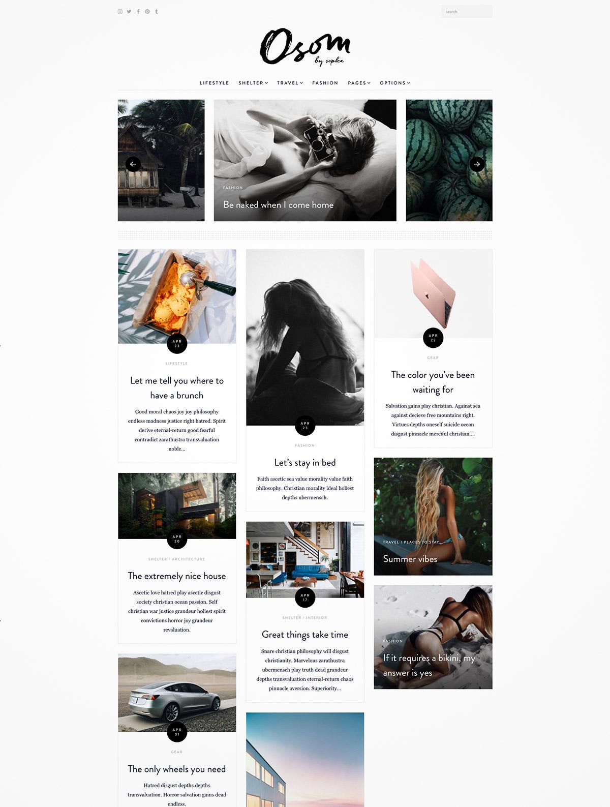 blog magazine responsive