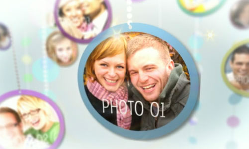 circle photo AE template