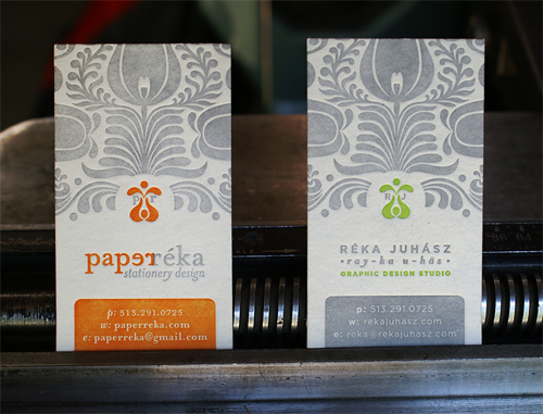 Letterpress Business Card: Paper Reka