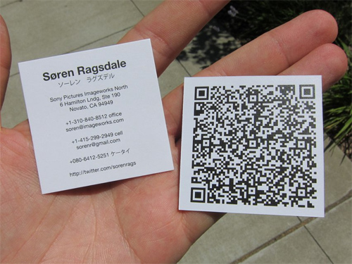 34 examples of business card designs with qr code naldz graphics my new qr code business card reheart Images