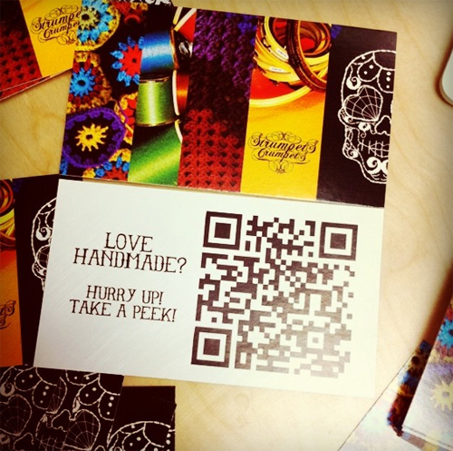 QR code Strumpets Crumpets business card