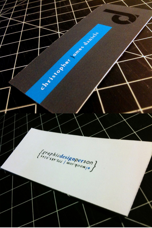 Business Card for: Christopher Daniels