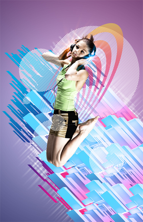 Create an Electrifying Music Poster with Geometrical Elements in Photoshop CS5 Extended