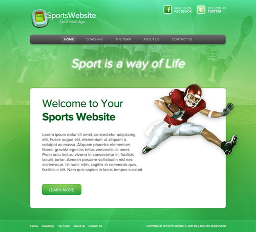 Design a Super Sleek Sports Web Layout