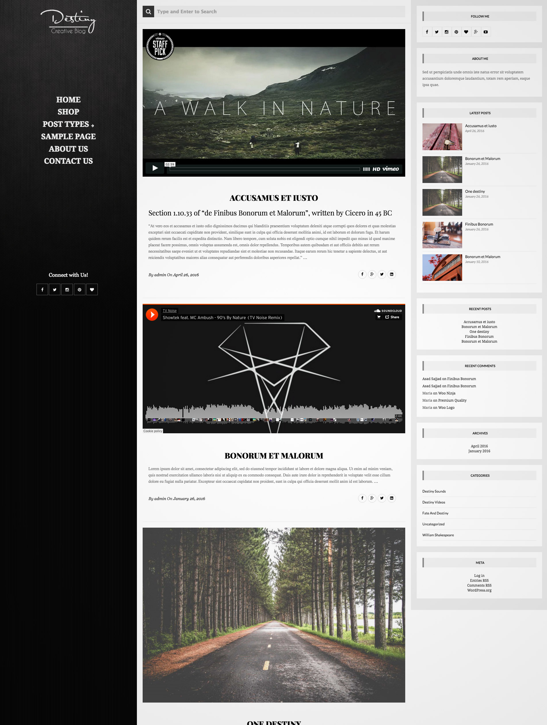simple blogging theme