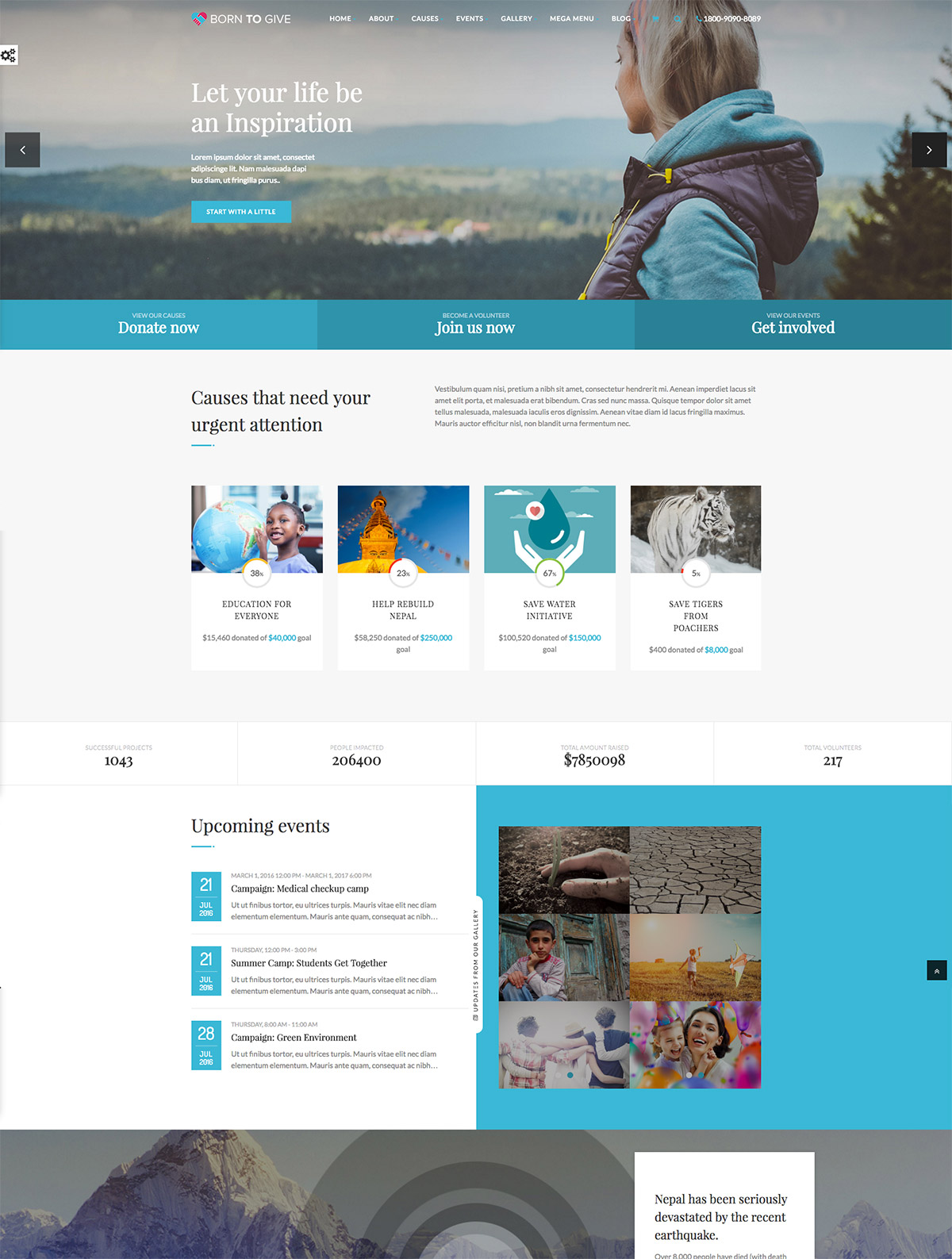 charity crowfunding theme