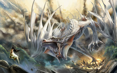 Nice Though Scary Dragon Wallpaper