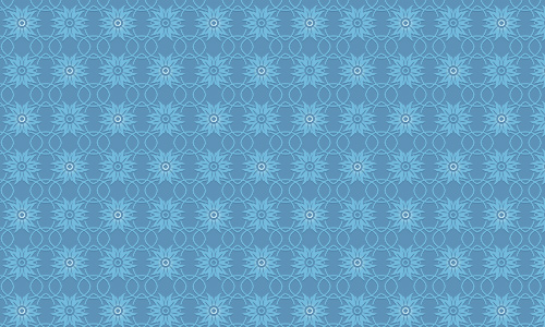 Pixel Floral in Blue