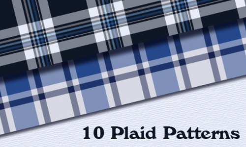 10 Seamless Plaid Patterns