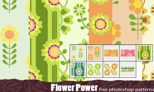 Flower Power Retro Patterns
