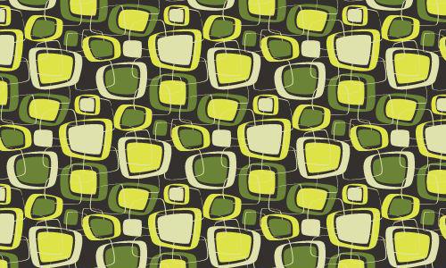 green retro Squares