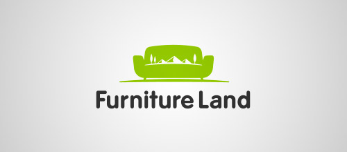 furniture land logo design