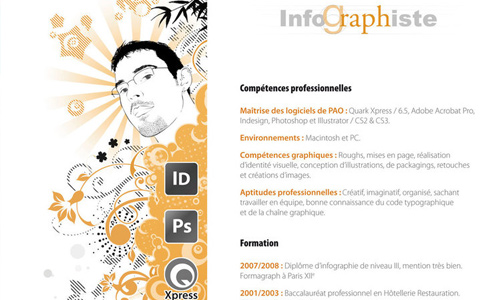 Send A Resume With Good Print Quality.  Best Graphic Design Resumes