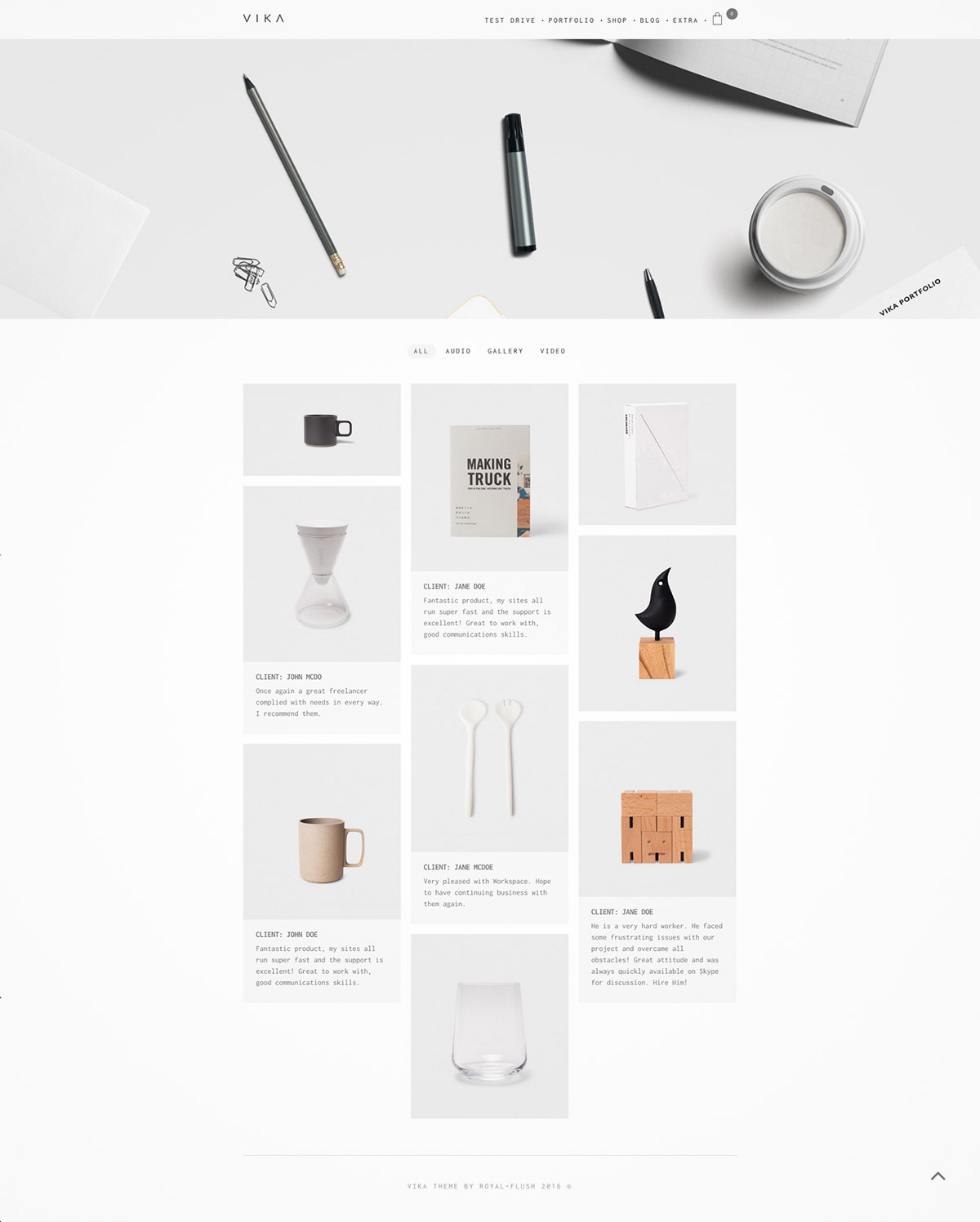 freelancer portfolio theme