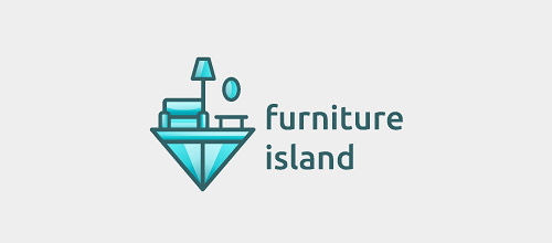 furniture island logo design