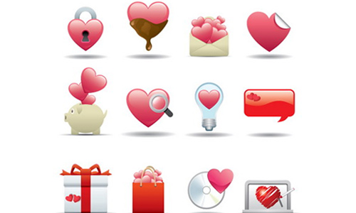 Heart Style Icons for Valentine Day