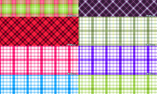 14 Plaid Pattern Set
