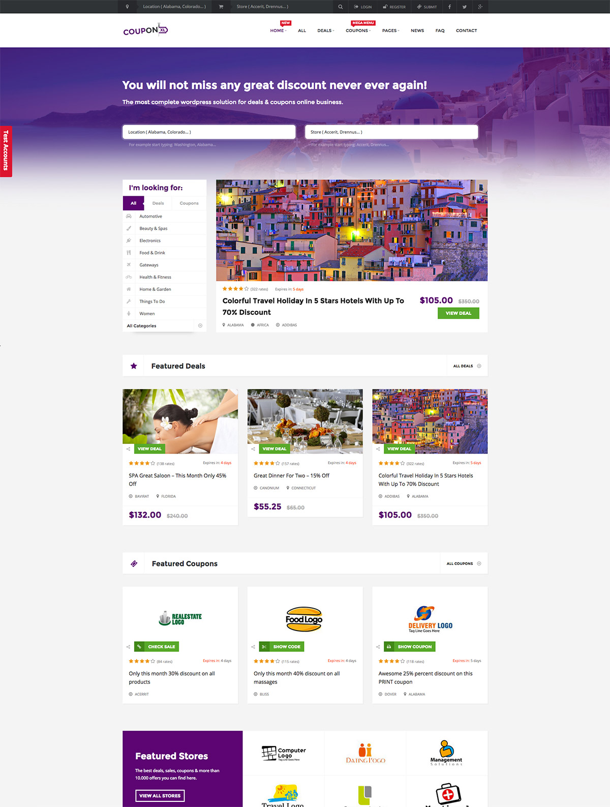 coupon deals themes