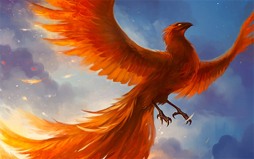 majestic phoenix illustration