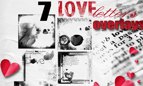 7 Love Letters Overlays
