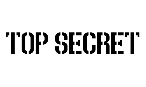 Top Secret font