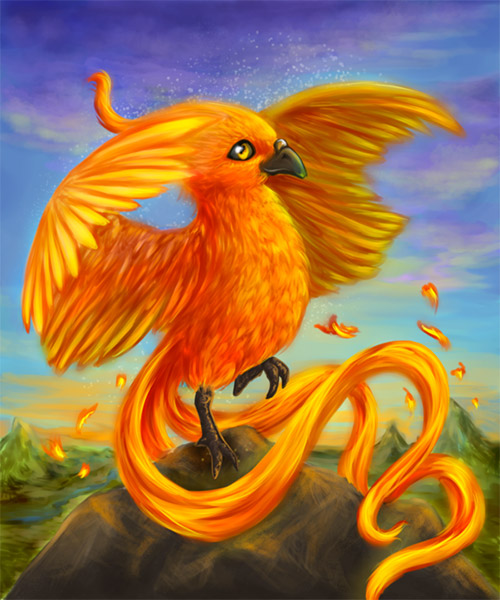 baby phoenix illustration