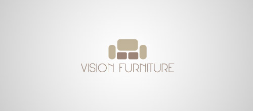 vision furniture logo design