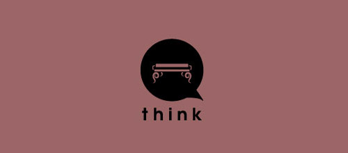 think furniture logo design